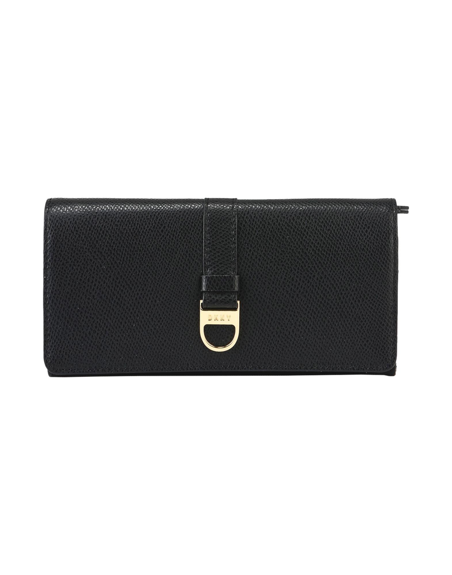 DKNY レディース 財布 ブラック 牛革 100%
