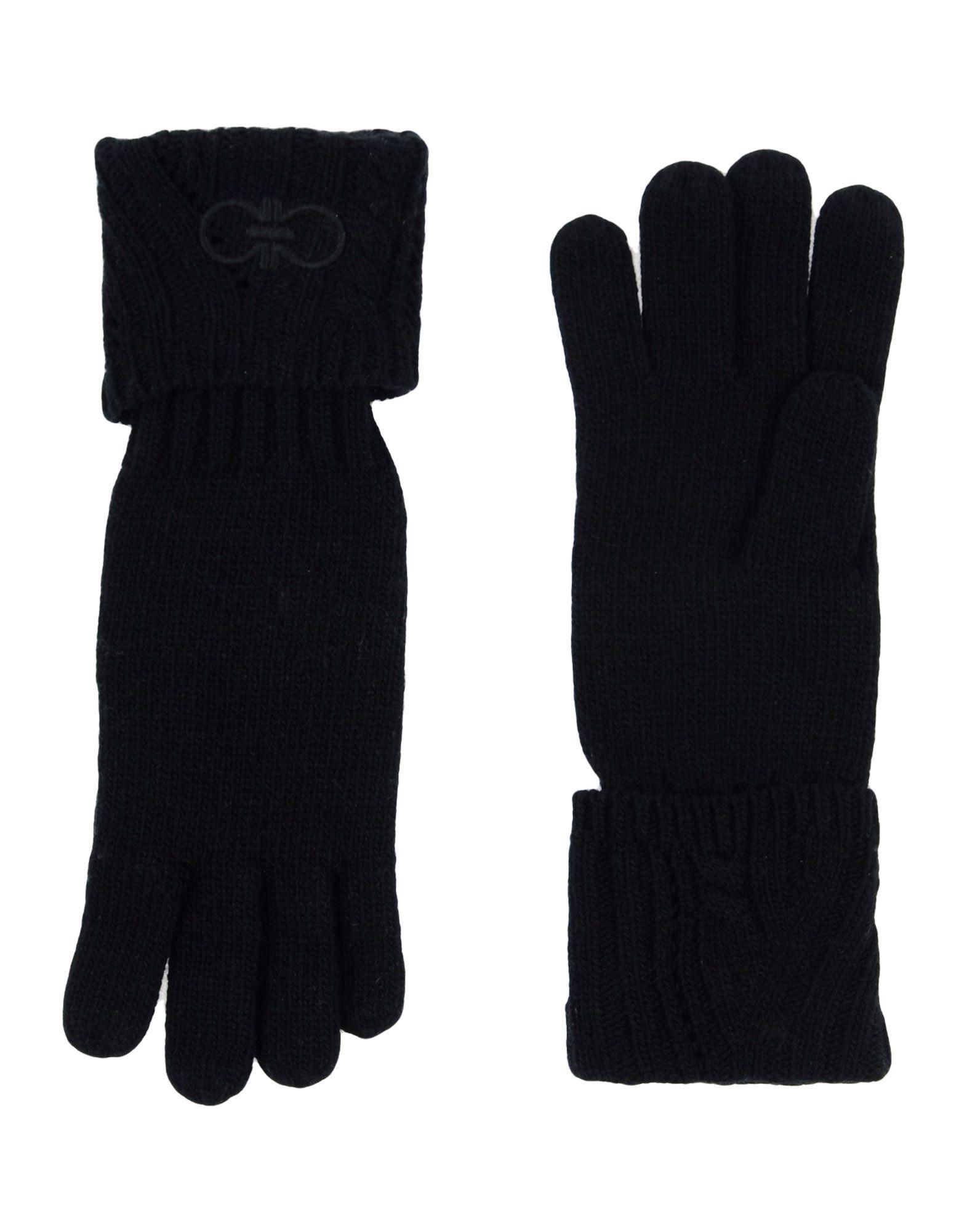 《送料無料》SALVATORE FERRAGAMO レディース 手袋 ブラック one size ウール 70% / カシミヤ 30%