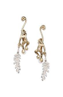 ALBERTA FERRETTI Juggler monkey pendant earrings Earrings Woman d