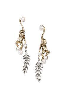ALBERTA FERRETTI Juggler monkey pendant earrings Earrings Woman f