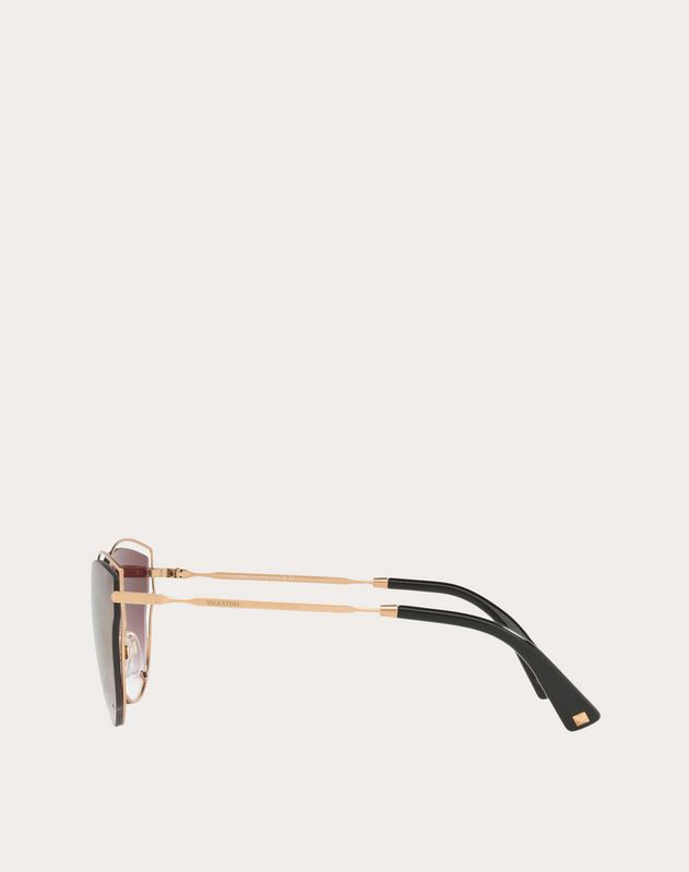 CAT-EYE SHADOW FRAME METAL SUNGLASSES