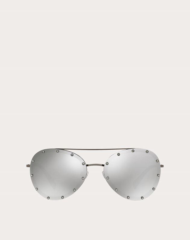 水晶装饰金属飞行员太阳镜