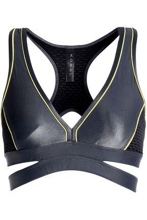 KORAL Paneled cutout stretch sports bra