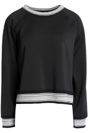 KORAL Embroidered stretch-knit top