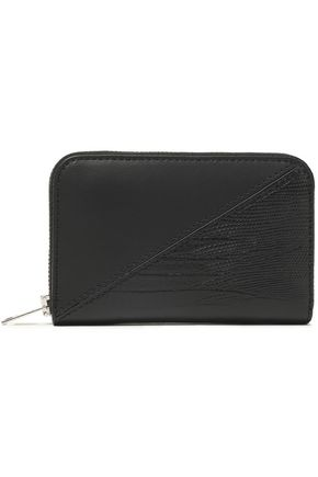 ALEXANDER WANG Lizard and croc effect leather wallet