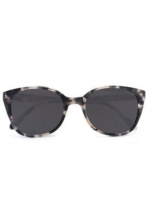 PRISM Round-frame tortoiseshell acetate sunglasses