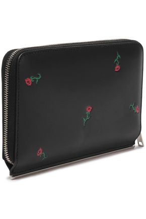 7b69aea6ec Floral-embroidered leather wallet | ALEXANDER WANG | Sale up to 70 ...