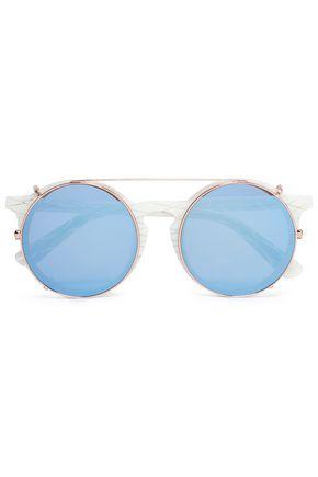 SUNDAY SOMEWHERE Round-frame acetate sunglasses