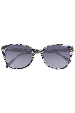 PRISM Square-frame printed acetate sunglasses