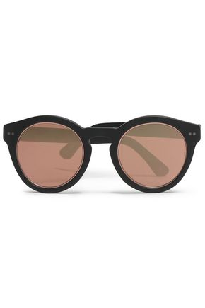 SUNDAY SOMEWHERE Round-frame acetate mirrored sunglasses