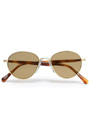 SUNDAY SOMEWHERE Aviator-style gold-tone sunglasses