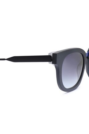 THIERRY LASRY Square-frame printed acetate sunglasses