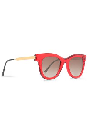 THIERRY LASRY D-frame acetate and gold-tone sunglasses