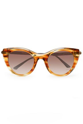 THIERRY LASRY Cat-eye gold-tone and acetate sunglasses