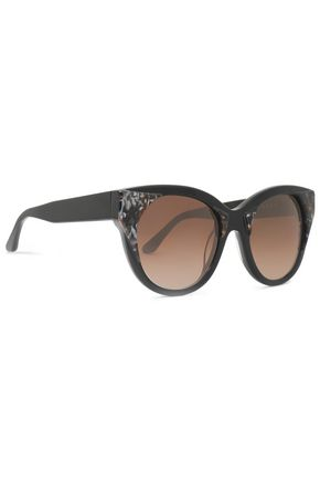 THIERRY LASRY Cat-eye printed acetate sunglasses