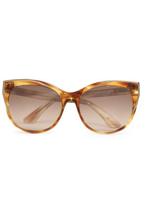 THIERRY LASRY Cat-eye acetate and silver-tone sunglasses