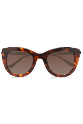 THIERRY LASRY Cat-eye tortoiseshell acetate and silver-tone sunglasses