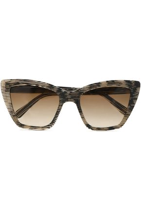 PRISM Cat-eye printed acetate sunglasses