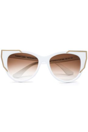 THIERRY LASRY Cat-eye acetate and gold-tone sunglasses