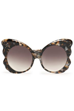 MATTHEW WILLIAMSON Butterfly-frame tortoiseshell acetate sunglasses