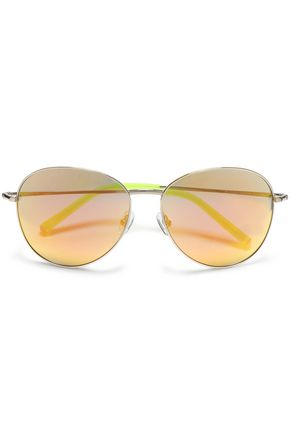 MATTHEW WILLIAMSON Aviator-style acetate mirrored  sunglasses