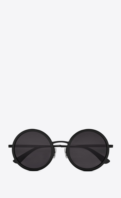 SAINT LAURENT CLASSIC E 136 sunglasses with black acetate frames and smoked black lenses a_V4