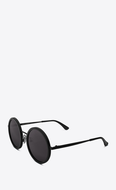 SAINT LAURENT CLASSIC E 136 sunglasses with black acetate frames and smoked black lenses b_V4