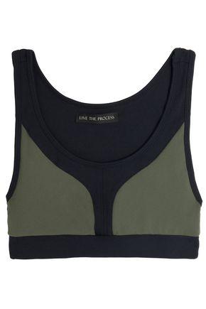 LIVE THE PROCESS Two-tone stretch sports bra