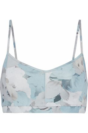 LIVE THE PROCESS Floral-print stretch-Supplex sports bra