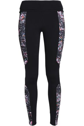 LIVE THE PROCESS Two-tone printed stretch leggings