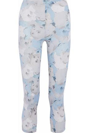 LIVE THE PROCESS Cropped floral-print stretch-Supplex leggings