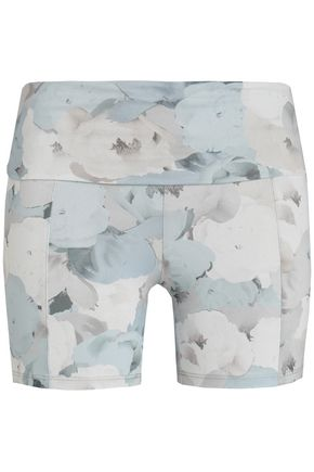 LIVE THE PROCESS Printed stretch shorts