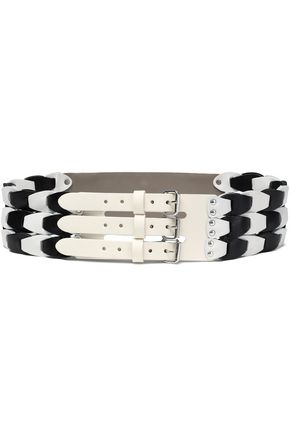 M MISSONI Studded two-tone leather belt
