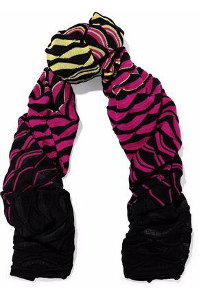 M MISSONI Jacquard-knit wool-blend scarf