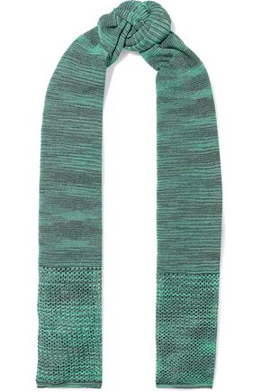M MISSONI Open and crochet-knit scarf