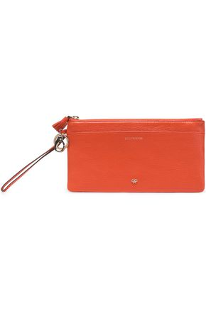 ANYA HINDMARCH Tasseled textured-leather wallet