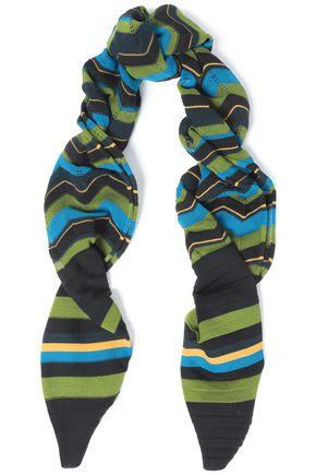 M MISSONI Pointelle-trimmed crochet-knit wool-blend scarf