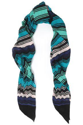 M MISSONI Crochet-knit cotton-blend scarf