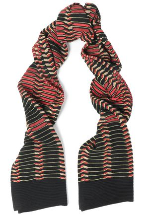M MISSONI Ribbed crochet-knit scarf