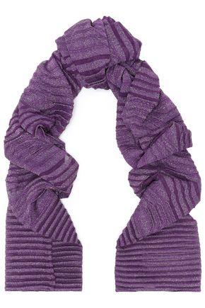 M MISSONI Ribbed crochet-knit scarf