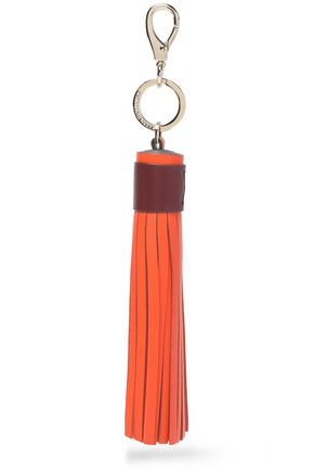 ANYA HINDMARCH Tasseled leather keychain
