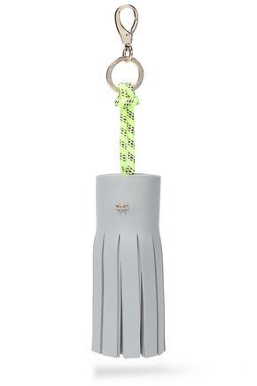 ANYA HINDMARCH Tasseled leather and rope keychain