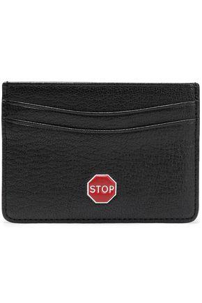 ANYA HINDMARCH Appliquéd textured-leather cardholder