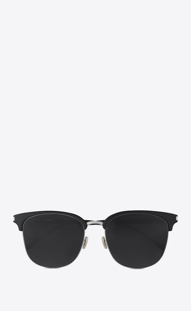 SAINT LAURENT CLASSIC E CLASSIC 201/K sunglasses in silver and black a_V4