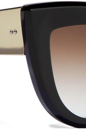 a05f960d06e03 ... ELLERY Quixote cat-eye tortoiseshell acetate and gold-tone sunglasses