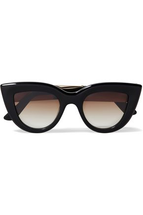 ELLERY Quixote cat-eye tortoiseshell acetate and gold-tone sunglasses