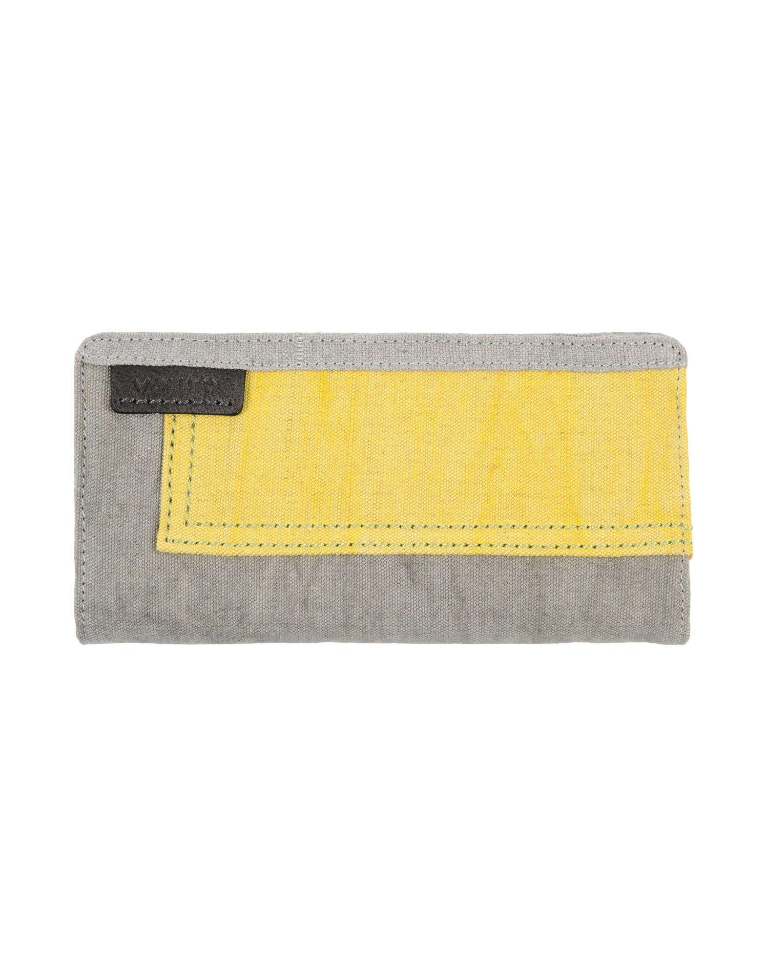 VOLUM レディース 財布 イエロー 紡績繊維