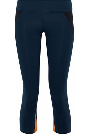 LIVE THE PROCESS Cropped two-tone stretch-Supplex® leggings