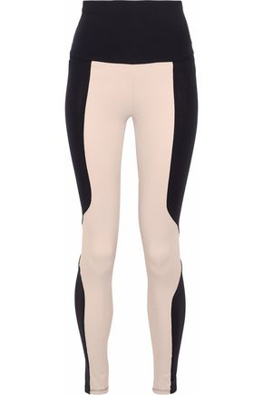 LIVE THE PROCESS Two-tone stretch-Supplex® leggings