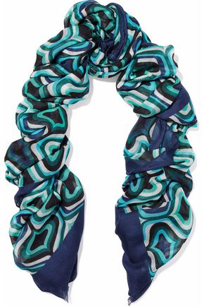 M MISSONI Printed modal, cashmere and wool-blend scarf